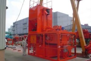 セメントサイロ3m3とDM1500の組み合わせ例